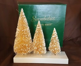 Dept 56 Snowbabies FROSTY Pines Set of 3 Trees #76687 Fiber Trees - $9.99