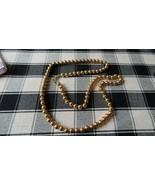 """Vintage Napier Gold Tone Bead Necklace 30"""" x 8mm - $20.79"""