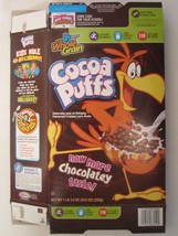 Empty GENERAL MILLS Cereal Box 2006 Cocoa Puffs 19.5 oz SONNY'S ELEVATOR... - $9.60