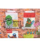 Vintage Sesame Street Twin Flat Sheet Brick Apartment Building Muppets C... - $49.95