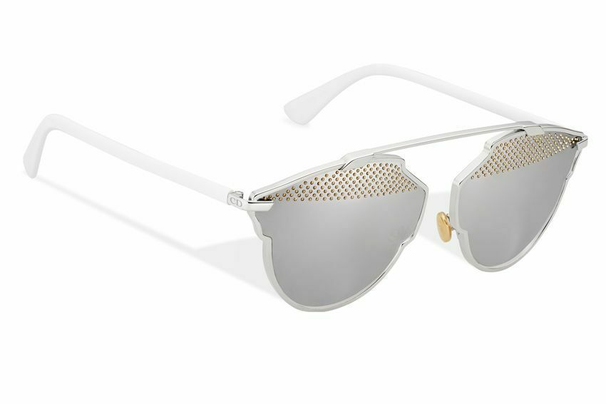 Primary image for CHRISTIAN DIOR SO REAL Palladium Mirrored White Gold Stud Sunglasses
