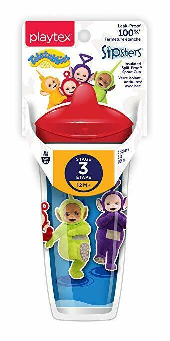Primary image for BRAND NEW Playtex Sipsters Stage 3 Teletubbies Insulated Spout Cup 9 Oz BPA FREE