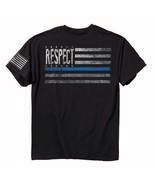 Respect First Responders Police Blue Short Sleeve T-Shirt Buck Wear - NEW - $24.95 - $26.95