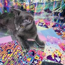 Vintage Lisa Frank Rare Kittens Bubbles Stationery & 100+ Sticker LOT