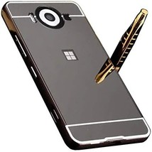 Microsoft Lumia650 Mirror Case, Shiny Awesome Make-up Mirror Plated Alum... - $12.73