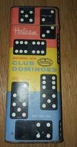 Vintage Halsam Double Six Club Dominoes Set No. 100 (Complete set 28) - $3.00