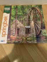 Springbok Water Wheel 1000 Piece Jigsaw Puzzle Complete  Used Once - $19.79