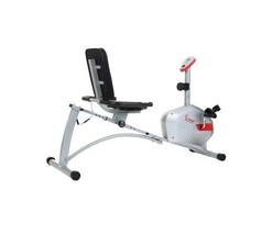 300lb Capacity Magnetic Recumbent Bike Exercise Bike w LCD Monitor Pulse... - $173.68