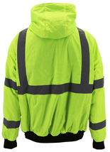 Men's Class 3 Safety High Visibility Water Resistant Reflective Neon Work Jacket image 3