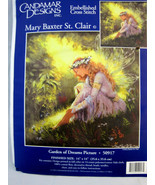 """Candamar Designs Picture Counted Cross Stitch Kit Garden of Dreams 14"""" X... - $24.95"""