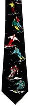 Skiing Mens Neck Tie Snow Sport Snowboarding Snowboard Skier Gift Black ... - $15.79