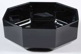 Vintage 1980's New Arcoroc Octime OCTAGONAL Black Glass Cereal Bowl Made In Fran - $11.99