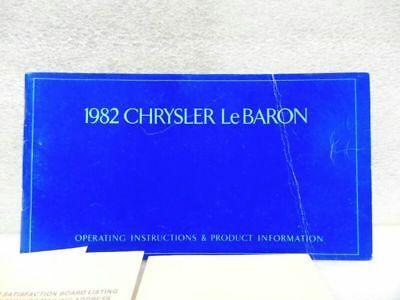 LEBARON   1982 Owners Manual 16564