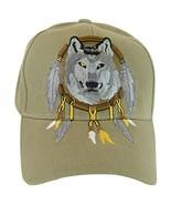 Native Pride Wolf Men's Adjustable Baseball Cap (S2-Khaki) - $11.95