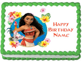 MOANA image Edible cake topper Birthday party decoration - $6.50+