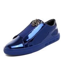 Brand Designer Sign On Luxury Men Slip Version 2017 V Metal Casual Loafers Shoes tdF6UqSxw