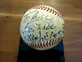 WILLIE MCCOVEY BEST WISHES GIANTS PADRES HOF SIGNED AUTO FEENEY BASEBALL... - $247.49