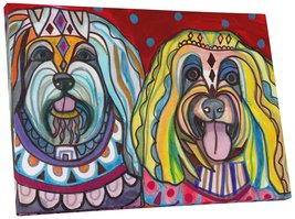 "Pingo World 0414Q5T5GDG ""Heather Galler Havanese Dogs"" Gallery Wrapped Canvas Wa - $43.51"
