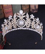 Water-Drop Crystal Rhinestone Bridal Tiaras Crowns Headpiece Pageant Hai... - $20.01