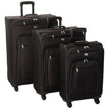 3 piece Luggage/ Suitcase set, Black - $199.98