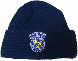 Loot Crate Resident Evil S.T.A.R.S Logo Beanie Navy Blue, Large - $24.26