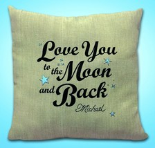 "Janlynn Needlecraft Love You To The Moon and Back 14"" x 14"" Pre-Made Stamped ... - $9.99"