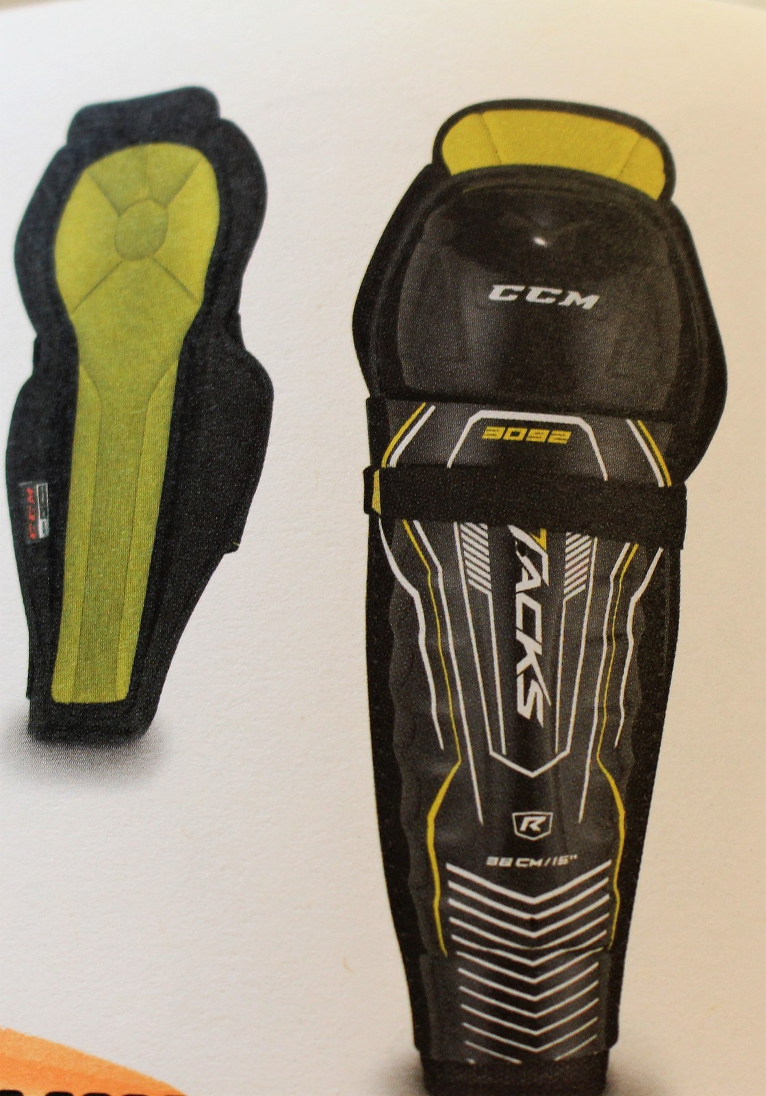 f2c9a7c08c3 CCM Tacks 3092 Youth Hockey Shin Guards Size and 50 similar items
