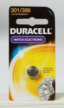 NEW! Duracell 301/386 Button Coin Battery Silver Oxide 1.5 volt Watch/Electronic - $5.80