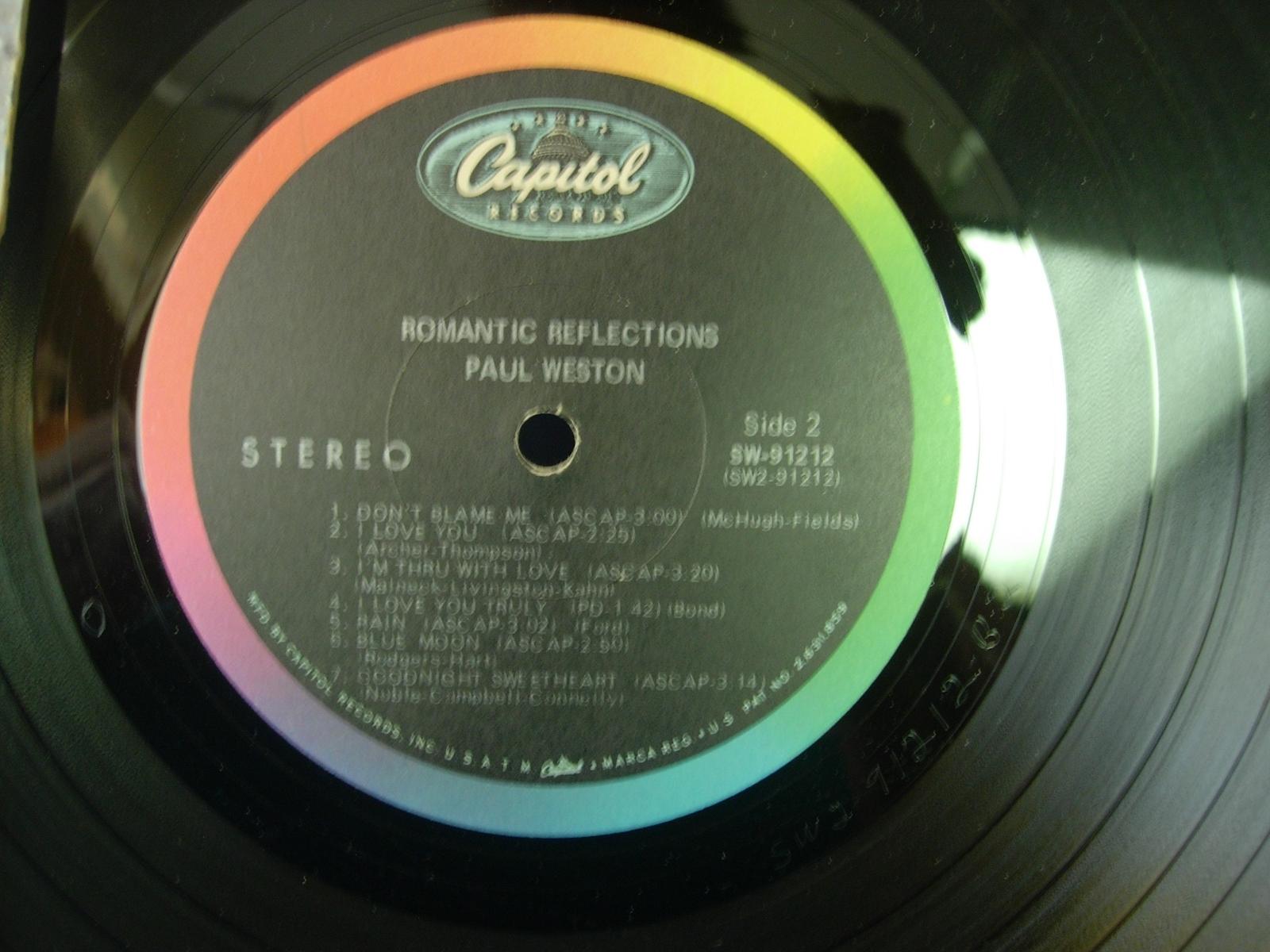 Paul Weston - Romantic Reflections - Capitol SW-91212