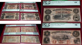 WESTERN EXCHANGE FIRE AND MARINE INS CO $1 $2 $3 $5 SET OF FOUR NOTES PCGS - $1,286.01
