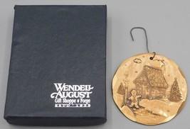 Pain D' Épice Homme Maison Wendell Août Forge 1995 Noël Ornement Bronze ... - $14.80