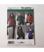 Simplicity 2760 Size 14-22 Misses' Jackets with Front and Sleeve Variations - $11.64