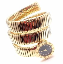 Bulgari Bvlgari 18k Yellow Gold Diamond Tubogas Serpent Snake Bracelet W... - $21,325.19
