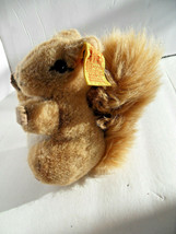 Steiff  squirrel with button flag stuffed animal made in Germany 2807 - $37.99
