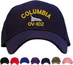 Space Shuttle Columbia Embroidered Baseball Cap - Available in 7 Colors Hat - $24.95