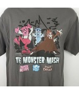 Monster Mash Count Chocula Frankenberry Cereal T-shirt Gray Size L - $26.72