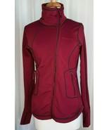 Avalanche Women's Medium Red Full Zip Running Seamed Jacket Thumb Holes ... - $49.49