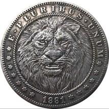 Rare New Hobo Nickel 1881 Morgan Dollar Afrcian Lion Savannah Casted Coin - $11.99