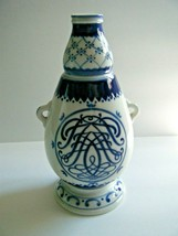 Heering Cherry Brandy Blue & white Ceramic Liquor Decanter Copenhagen - $19.75