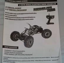 Redcat Racing Rockslide RS10 XT Manual - $6.95