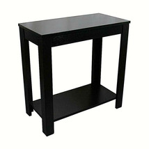 Traditional Style BLACK Finish Side/End Table, 24-Inch Height - $55.17