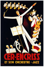 French Vintage Poster.Jazz Orchestra.Home House Decor Interior design.819i - $10.89+