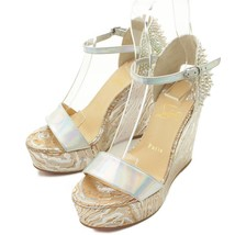 Authentic Christian Louboutin Wedge Sole Sandals Strap Spikes Grade Ab Used - Md - $524.03