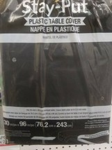 STAY PUT LARGE 30'' X 96'' TABLE  BANQUET COVER , BLACK # 702000 - SEALED NEW! image 2