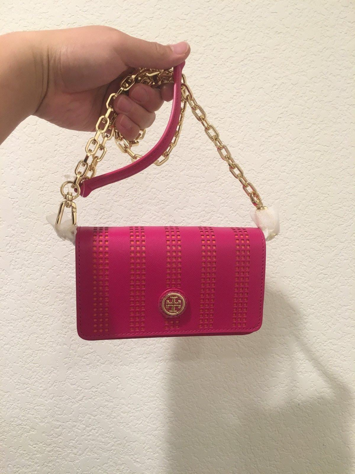 Primary image for Tory Burch Robinson Mini CARNATION RED 51149298-623 Chain Shoulder Bag