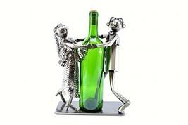 WINE BODIES ZB930 Musical Tango Dancers Metal Wine Bottle Holder Characters - $78.84