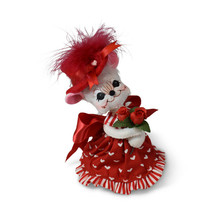 Annalee Dolls 2019 Valentine 6in Valentine Girl Mouse Plush New with Tags - $17.41