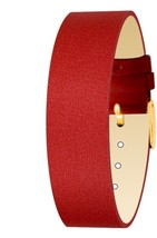 Moog Paris Red Fabric Bracelet for Women, Satin Pattern, Pin Clasp, 18mm... - $46.65