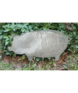 Metal Pig Garden Stake Yard Hog Lawn Ornament Outdoors Swine Barn Home - £14.54 GBP