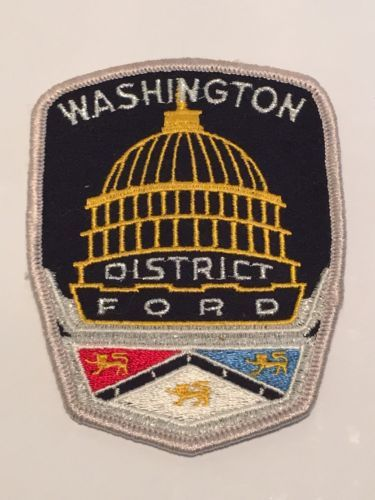 Washington District Ford Embroidered Patch Capitol Dome Racing Logo